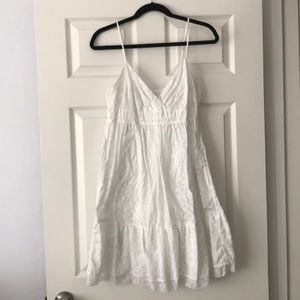 American Eagle White Floral Summer Dress